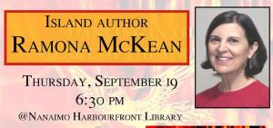 Author Ramona McKean, Book Launch Nanaimo, BC Canada