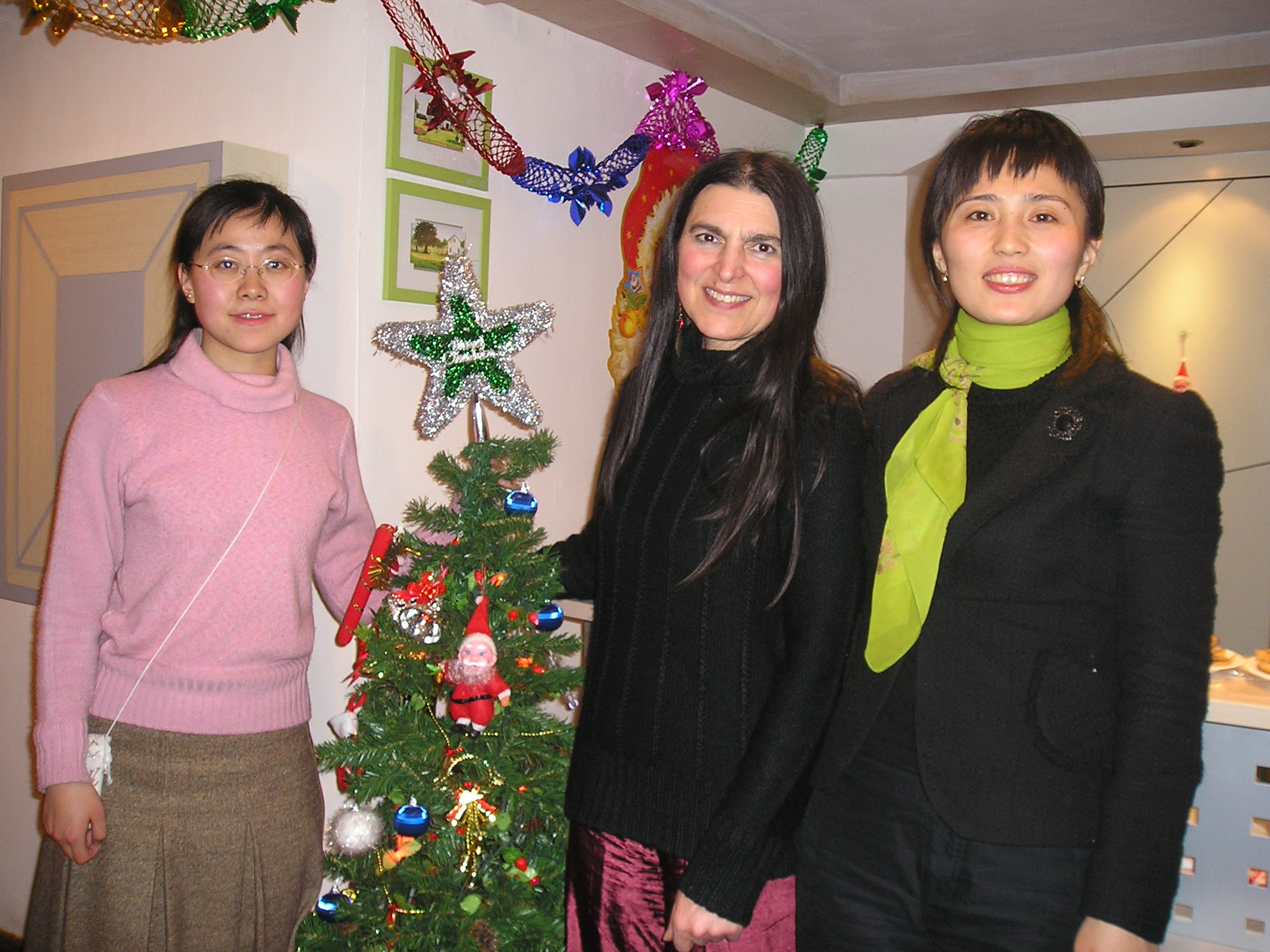 Here I am with my personal assistant and my employer Merry Jiang at the Harbin Institute of Technology's Study Abroad Centre, 2004