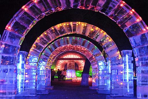 Ice Arches, Zhaolin Park, Harbin
