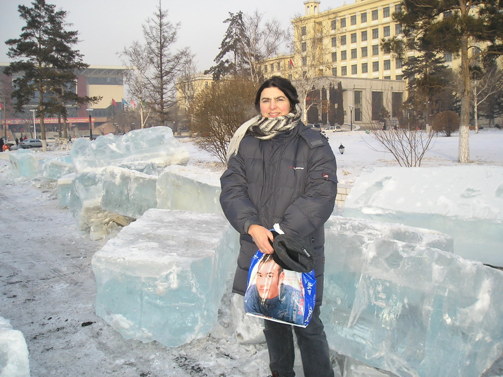 Blocks of ice from the Songhua River.