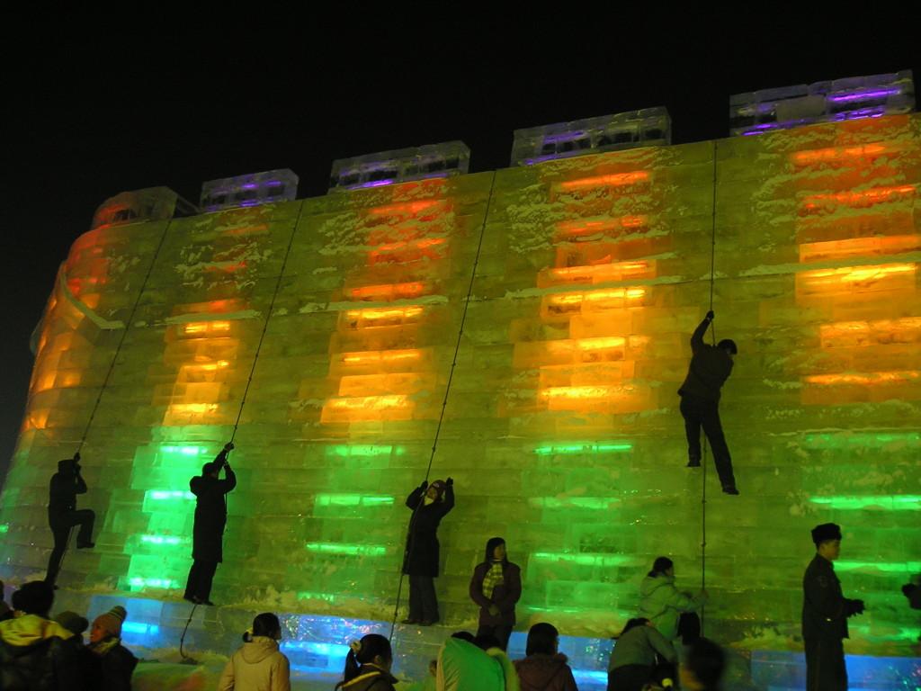 Harbin Ice and Snow Festival Ice Wall Climbing, 2005