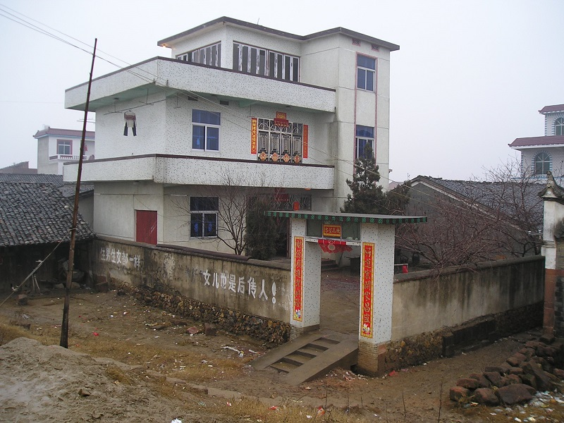 Jiangxi, China, a village home at Spring Festival