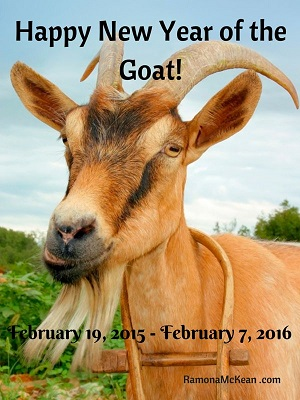 Happy New Year of the Goat, February 19, 2015 to February 7, 2016