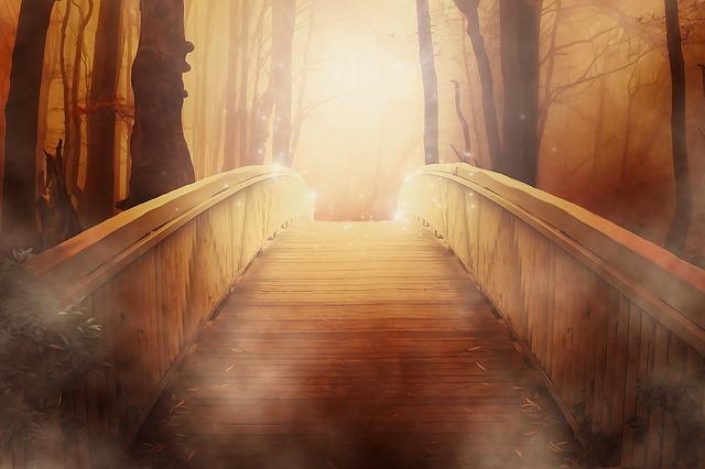 bridge of golden light