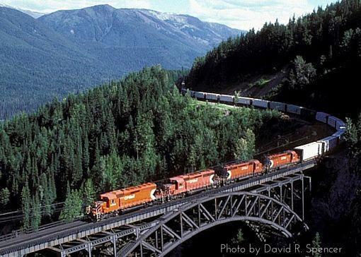 Stoney Creek Bridge CP Rail bridge, Rogers Pass, B.C. Photo by David R. Spencer