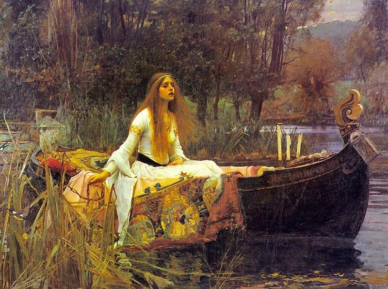 J.W. Waterhouse's interpretation of Tennyson's Lady of Shallot