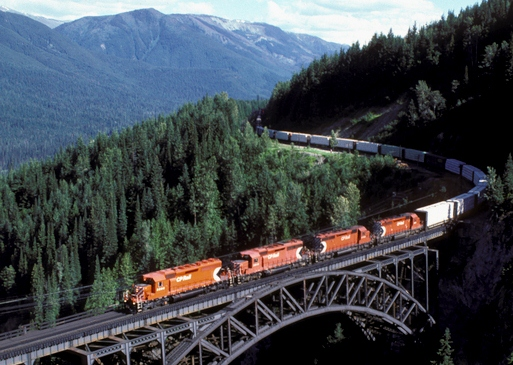 Stoney Creek Bridge, CP Rail bridge, Rogers Pass, BC, Photo by David R. Spencer