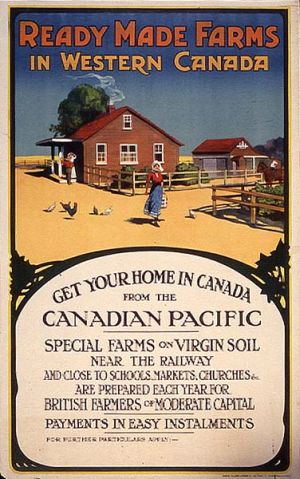 CPR Canadian immigration poster