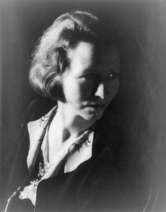 Edna St. Vincent Millay, Jan.14, 1933, photo by Carl Van Vechten, [Public domain, via Wikimedia Commons]