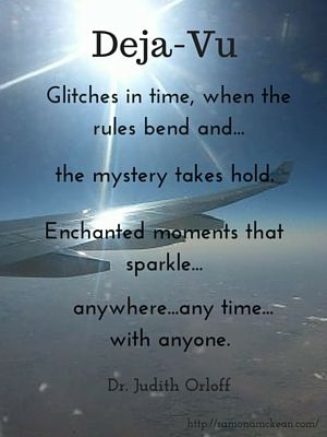 Glitches in time when the rules bend and...the mystery takes hold. Enchanted moments that sparkle...anywhere, anytime, with anyone. Dr. Judith Orloff